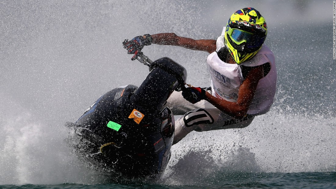 Speed along Dubai's coastline on a jet ski past the famous Palm Jumeirah archipelago and Sheikh Island. Pick the right weekend and you can watch competitors go full pelt in pursuit of glory.