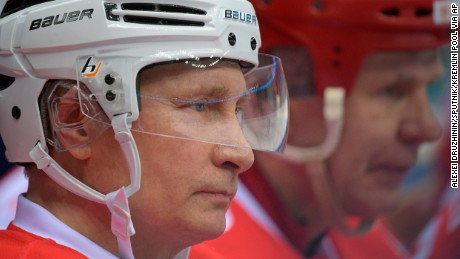 Putin set up the amateur league several years ago and has played in every gala match since 2012.