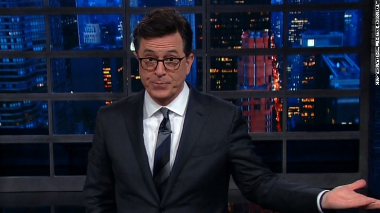 Colbert mocks Trump's termination letter