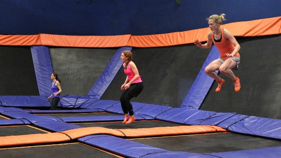 Trampolining is another class gaining popularity, promising an active and intense workout.