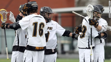 Is the Trump's pre-game speech working? Adelphi's men's lacrosse team is 14-3 this season.