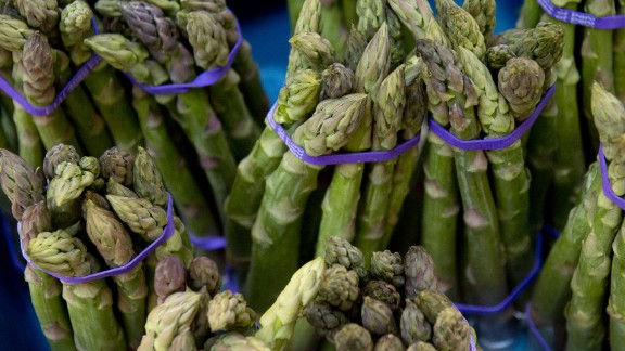 """The only vegetable on the list is also the most surprising entry. Asparagus creates 8.9 kilos of emissions per kilo produced, according to the NRDC. But how?   The problem is mostly in the air miles. NRDC's Sujatha Bergen explains: """"Much of the asparagus in the United States is flown in from Latin America, which results in greater climate emissions than foods that are transported by trucks. While it's not the only produce item that is flown into the country, a higher proportion of it is transported this way than most other common fruits and vegetables (many of which we import from Mexico). In general, if people are looking to minimize their climate impacts, they should avoid air freighted foods as much as possible."""""""