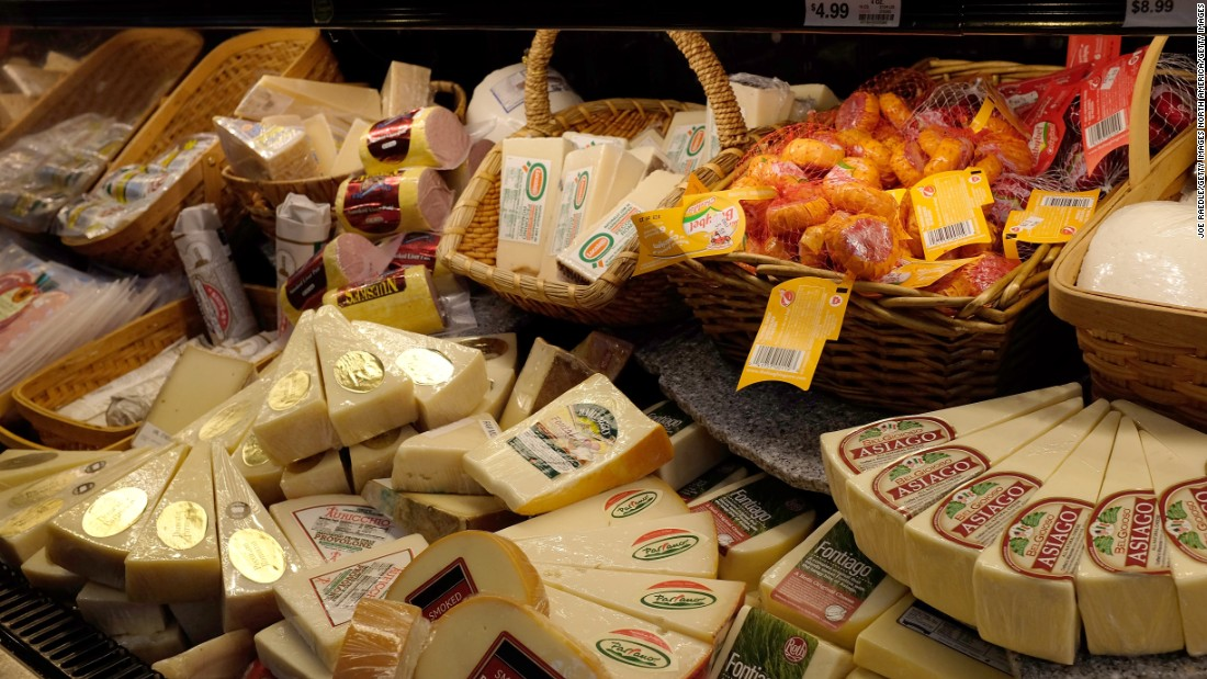 "Another dairy product, cheese, comes in fifth place with 9.8 kg of emissions per kg produced. ""Our list is a an average of several common cheeses,"" explains Sujatha Bergen, ""Cheeses that require refrigerated transport or are flown in from abroad, however, tend to have higher climate impacts."""