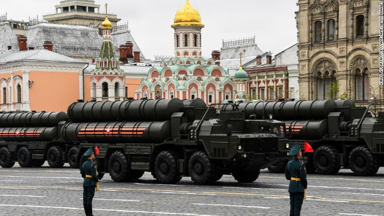 Russia shows off its military might during a Victory Day parade in May 2017.
