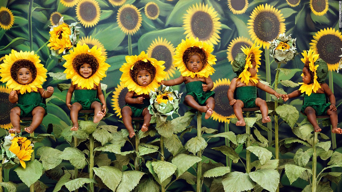 Photos from Anne Geddes' book 'Small World'
