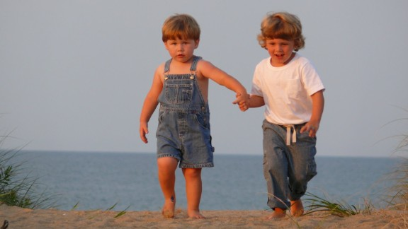Cole, when he was 4, and Stephen, when he was 2, at Duck, NC during the summer of 2007.