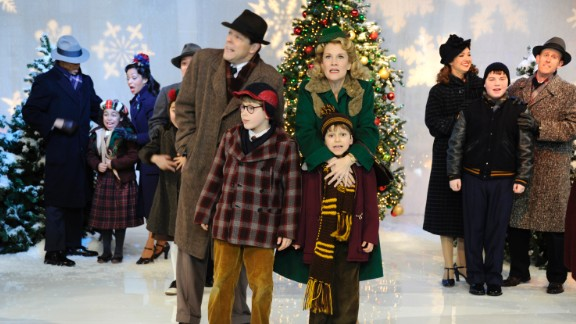 """The cast of the Broadway music """"A Christmas Story"""" performs on """"Good Morning America"""" in 2012."""