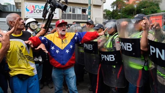 At least 38 Venezuelans have died during weeks of unrest.