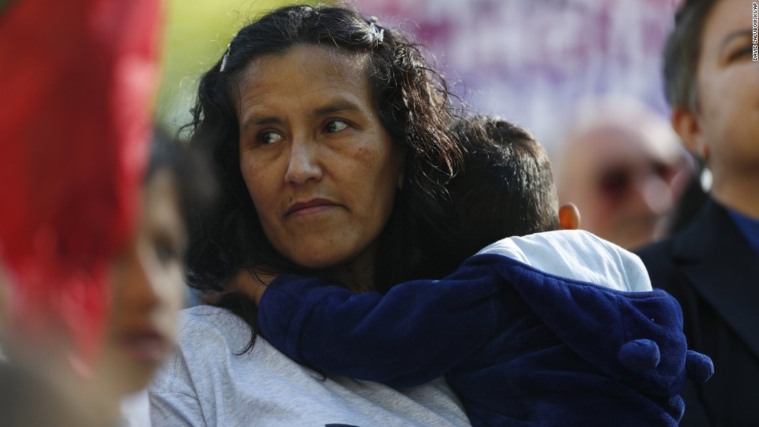 "Jeanette Vizguerra, a Mexican immigrant who has lived in a Denver church to avoid immigration authorities for the past three months, speaks after leaving the church on Friday, May 12. Supporters say Vizguerra has <a href=""http://www.cnn.com/2017/05/12/us/colorado-deportation-stays-vizguerra-hernandez/"" target=""_blank"">won a two-year deportation delay.</a>"