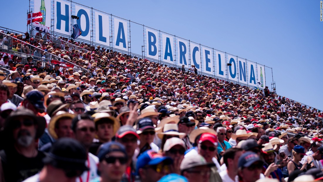 Huge crowds watched the race at the Circuit de Catalunya-Barcelona.