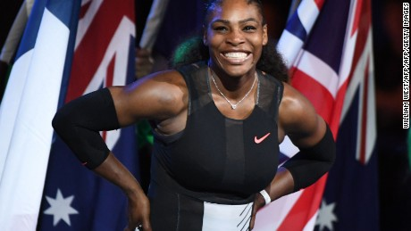 Williams won her 23rd grand slam in January at the Australian Open