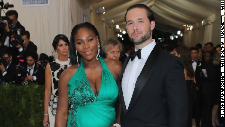 Serena Williams and Alexis Ohanian at the Met Gala in May in New York City.
