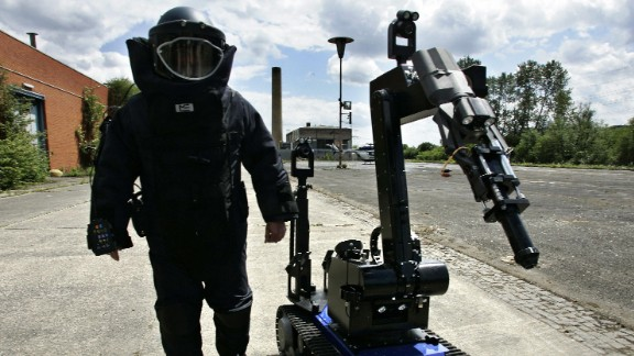 TEODOR (Telerob Explosive Ordinance Disposal Observation Robot) was on call during the 2006 FIFA Football World Cup in Germany. Built to detect and disarm explosives, the 375kg robot is reportedly used by 20 NATO countries.