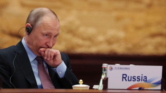 Russia's President Vladimir Putin attends the Roundtable Summit Phase One Sessions during the Belt and Road Forum, at the International Conference Center in Yanqi Lake, north of Beijing, on May 15, 2017.  Chinese President Xi Jinping urged world leaders to reject protectionism on May 15 at a summit positioning Beijing as a champion of globalisation, as some countries raised concerns over his trade ambitions. / AFP PHOTO / POOL / Lintao Zhang        (Photo credit should read LINTAO ZHANG/AFP/Getty Images)