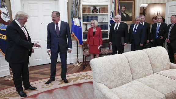 President Trump with Russian Foreign Minister Sergey Lavrov and Russian ambassador Sergey Kislyak in the Oval Office in May.
