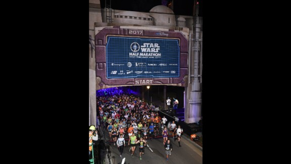 "In January, 16,000 fan-runners entered the ""Star Wars"" half-marathon at Disneyland in California. It started at 5:30 a.m., through a gate featuring Tatooinian architecture."