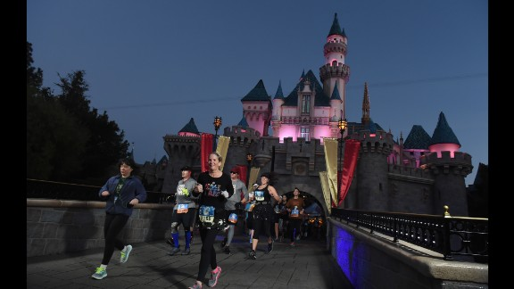 Despite the darkness, the course is well-lighted and -directed. It goes through the iconic Sleeping Beauty's Castle.