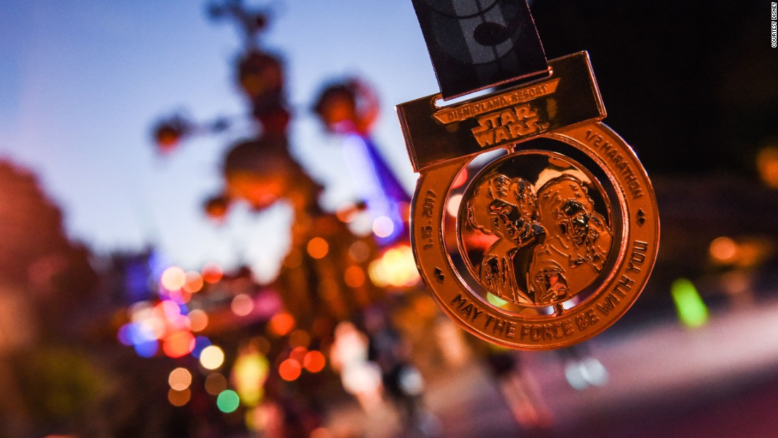 Every finisher gets a medal. There are, sadly, no prizes for costumes, no matter how deserved.