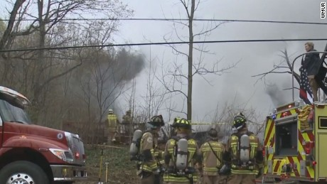 A vacant cottage in Wilmot, New Hampshire, exploded and caught fire.