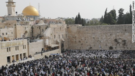The Western Wall, one of Judaism's holiest sites, is in Jerusalem's Old City