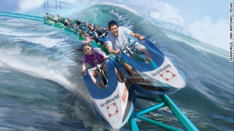 Artist rendering of the Wavebreaker: The Rescue, in Seaworld, San Antonio, Texas.