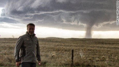Jason Persoff, 46, has been chasing tornadoes for 25 years.