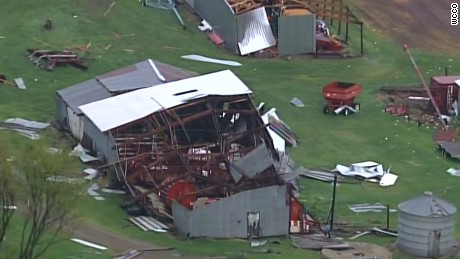Structures near Chetek, Wisconsin, were hit by what state officials said was a tornado.