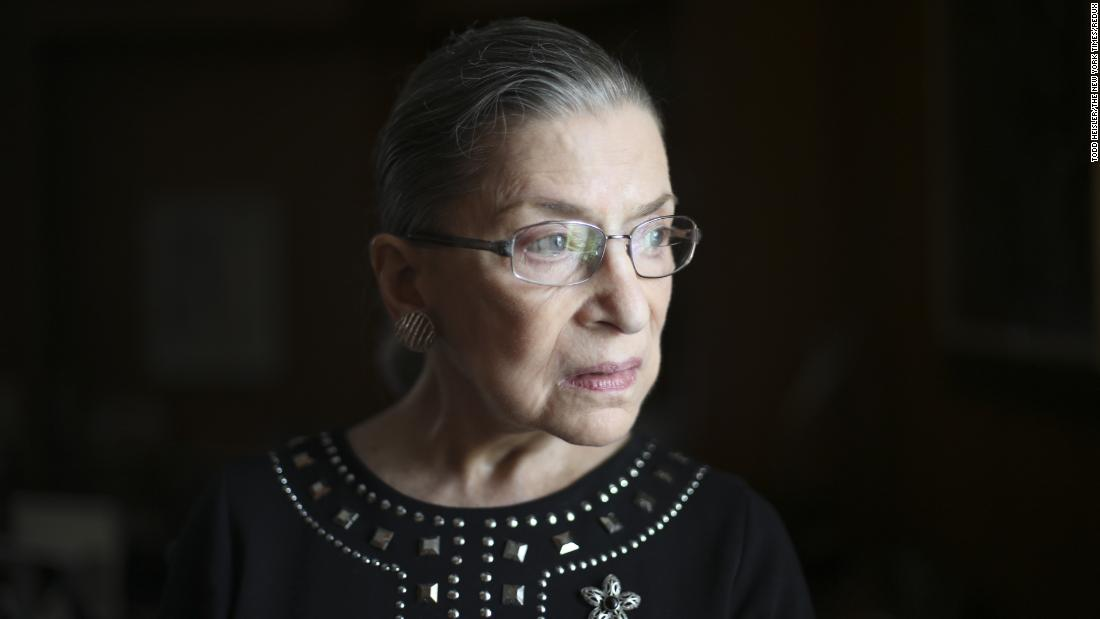 Supreme Court Justice Ruth Bader Ginsburg is seen in Washington in 2013.