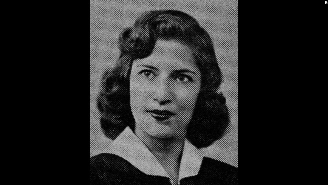 A photo of Ginsburg from her high school yearbook.