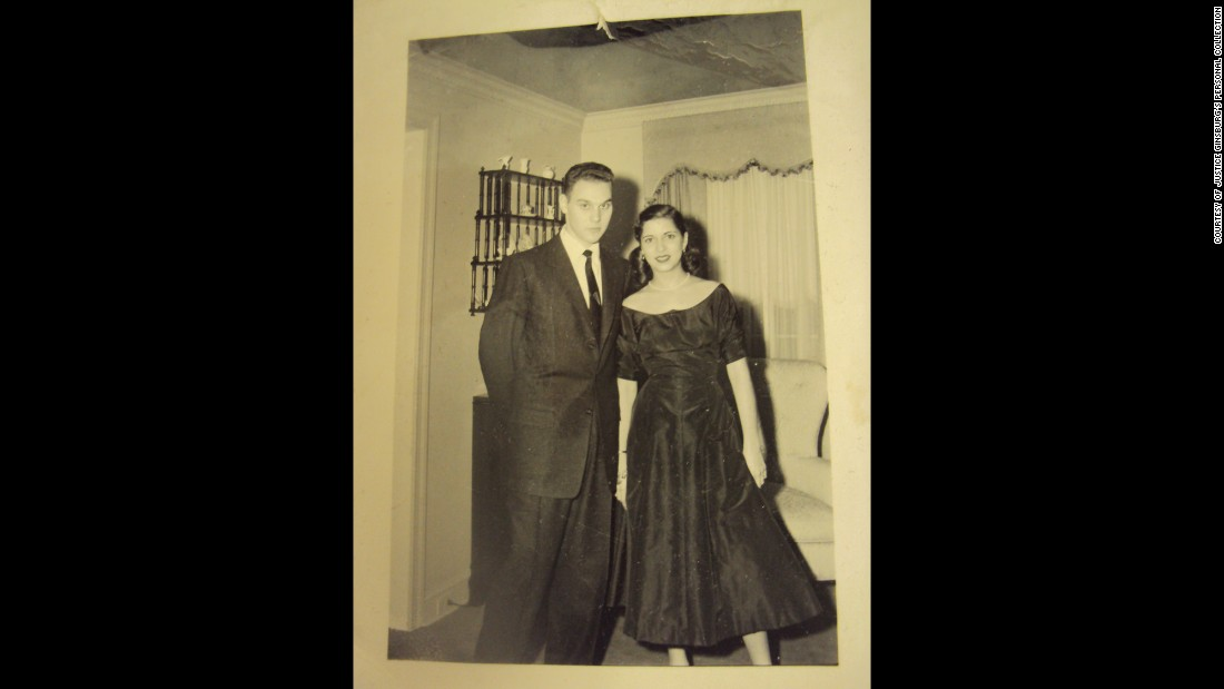 Ginsburg met her husband, Martin,<strong> </strong>while attending Cornell University, and both went on to study law. The couple were engaged in December 1953.