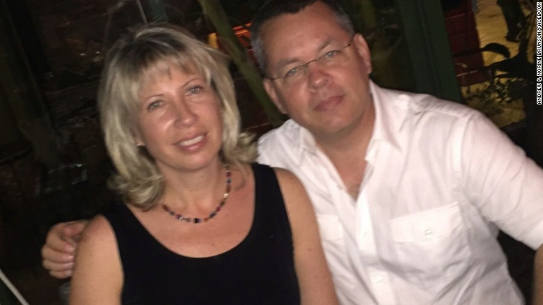 US President Donald Trump again has called for the release of Andrew Brunson, an American pastor who is on trial in Turkey.