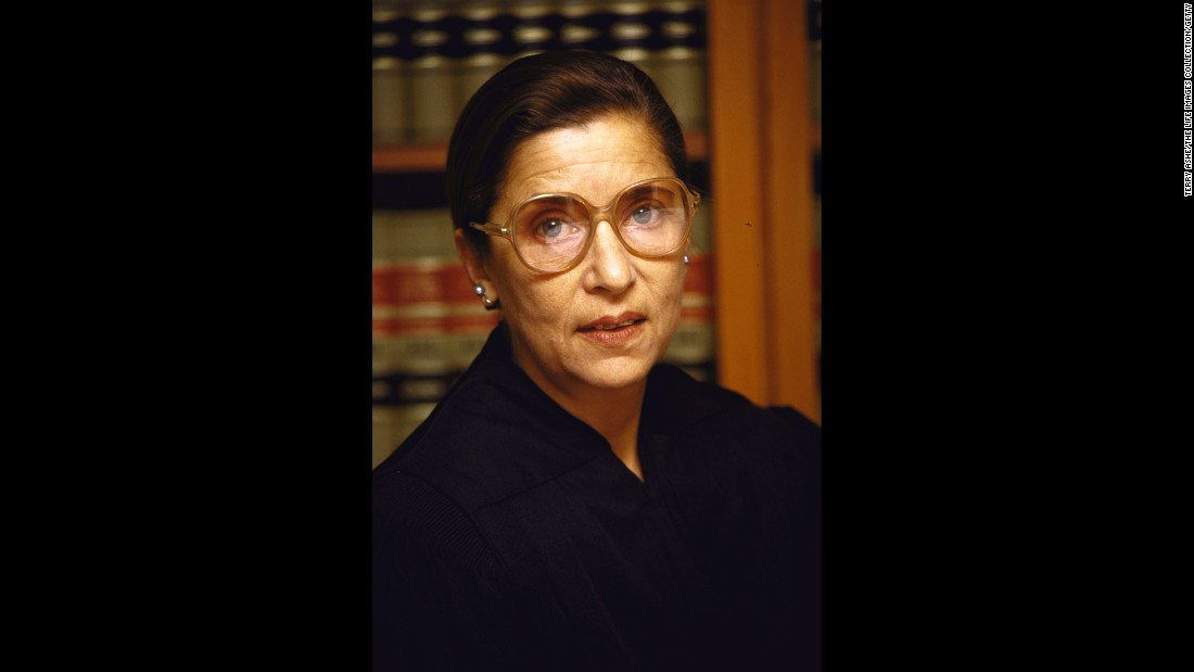 Ginsburg in her chambers at the US Courthouse in Washington.