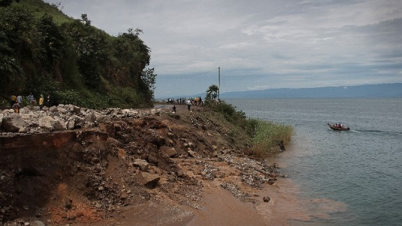 Rapid deforestation of surrounding hillsides have loosened the earth, causing an increase in sand and mud being washed into the lake.
