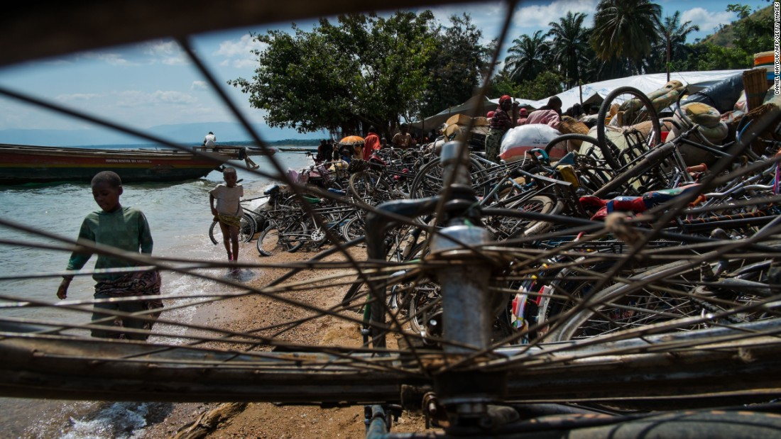 "Bicycles pile up on the shore, 2015. Lake Tanganyika was recently declared the ""Threatened Lake of 2017"" by German NGO Global Nature Fund."