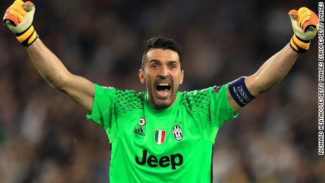 Gianluigi Buffon will appear in his third Champions League final next month
