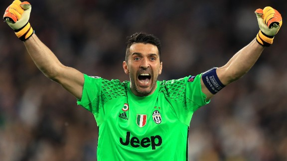 Gianluigi Buffon will appear in his third Champions League final next month