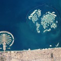 dubai aerial shot artificial islands