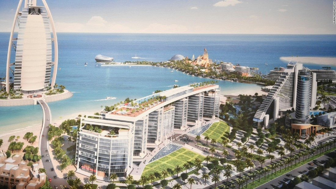The whole project will add 2,400 hotel rooms to Dubai's Jumeirah Beach, and with completion penciled in for late 2020, will come just in time for Expo 2020.