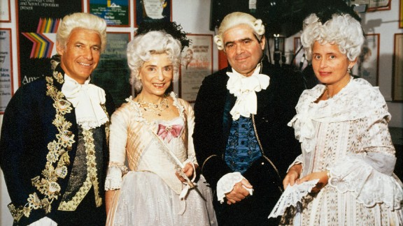 "Ginsburg, second from left, and Scalia, second from right, appeared in the opening-night production of ""Ariadne auf Naxos,"" an opera at the Kennedy Center in Washington in 1994."