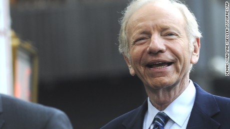 Joe Lieberman speaks at a 'Stop Iran Rally,' regarding the Iran nuclear deal on September 1, 2015 in New York City. Graham is one of 16 Republican hopefuls running for the Republican presidential nomination. Congress has until September 16 to either officially support or denounce the deal/picture alliance Photo by: Dennis Van Tine/Geisler-Fotopres/picture-alliance/dpa/AP Images