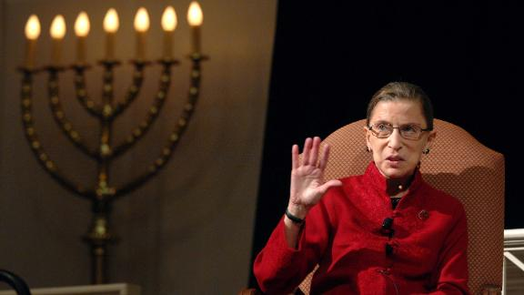 "Ginsburg talks with filmmaker David Grubin about his PBS series ""The Jewish Americans"" in 2008."