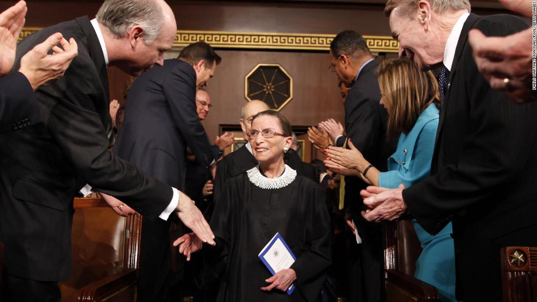 Ruth Bader Ginsburg returns to Supreme Court bench after stomach bug - CNNPolitics
