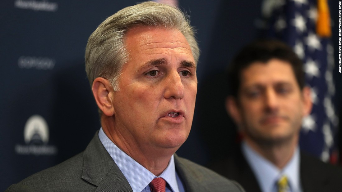 image of Kevin McCarthy elected House minority leader