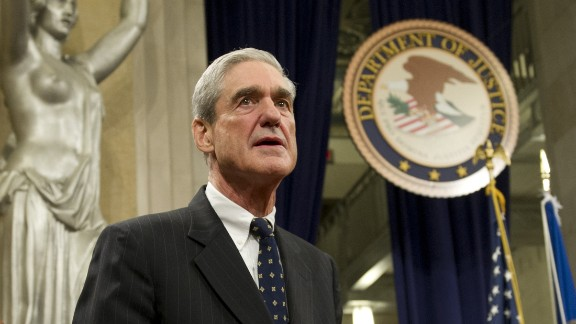FBI Director Robert Mueller following a farewell ceremony in his honor at the Department of Justice on August 1, 2013.