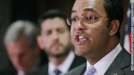 WASHINGTON, DC - DECEMBER 08:  Rep. Will Hurd (R-TX) speaks during a news conference with House GOP leadership following the weekly Republican Conference meeting at the U.S. Capitol December 8, 2015 in Washington, DC.