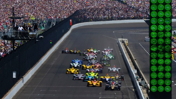 Huge crowds congregate for the 2016 Indy 500 held at the Indianapolis Motor Speedway.