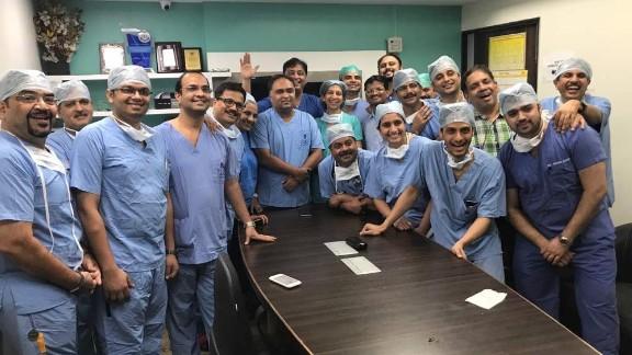 The Indian surgical team were led by Dr. Shailesh Puntambekar.