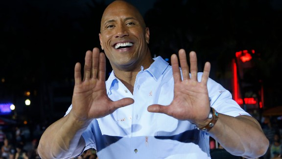 Actor Dwayne 'The Rock' Johnson attends Paramount Pictures' World Premiere of 'Baywatch' on Miami Beach, Florida on May 13, 2017. / AFP PHOTO / RHONA WISE        (Photo credit should read RHONA WISE/AFP/Getty Images)