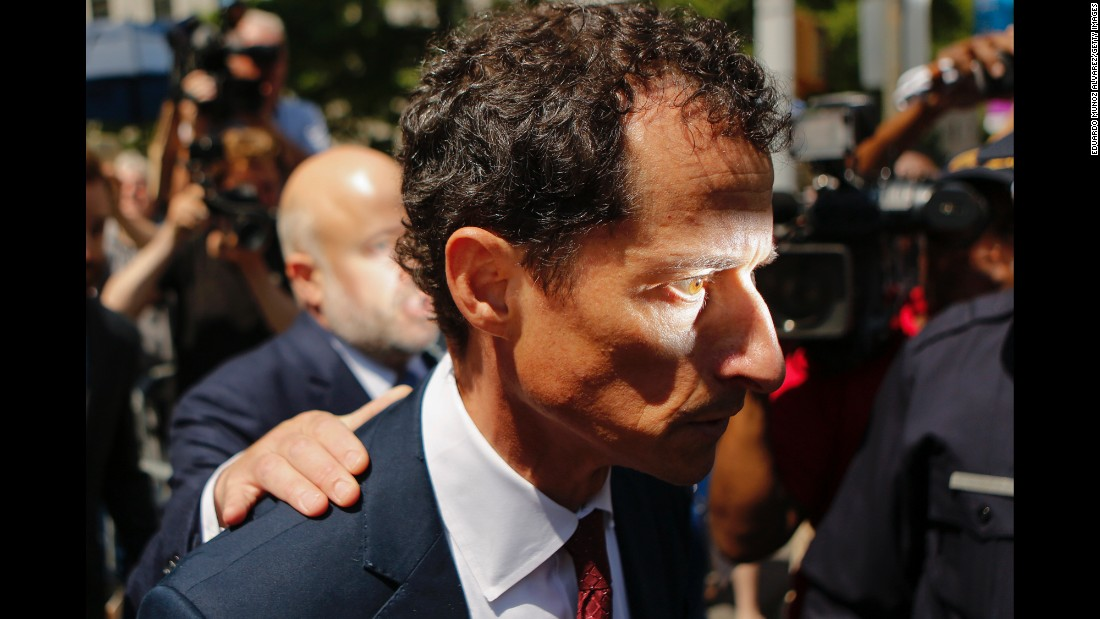 "Former US Rep. Anthony Weiner exits a federal court in New York on Friday, May 19, after <a href=""http://www.cnn.com/2017/05/19/politics/anthony-weine-guilty/index.html"" target=""_blank"">pleading guilty</a> to transferring obscene material to a minor. According to a statement by acting US Attorney Joon H. Kim, Weiner admitted that he texted a 15-year-old girl and sent her sexually explicit images as well as directions to engage in sexual conduct. Weiner left Congress in June 2011 when it first emerged that he had sent explicit texts to women other than his wife."