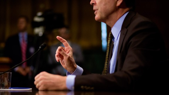 Director of the Federal Bureau of Investigation James Comey testifies in front of the Senate Judiciary Committee during an oversight hearing on the FBI on May 3, 2017.